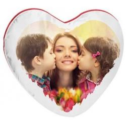 Cuscino Cuore Bicolore Personalizzato per San Valentino