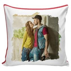 Cuscino quadrato Bicolore Personalizzato per San Valentino