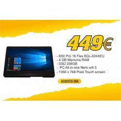 MSI PC AIO PRO 16 FLEX 8GL N4000 4GB 256GB SSD 15,6 TOUCH FREEDOS