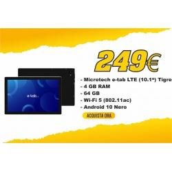 "Microtech ETL101GB E-Tab 10.1"" 4Gb 64Gb LTE Android 10 Nero"