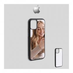 Cover Apple I-phone 12 in Silicone morbido con inserto in alluminio sublimatico