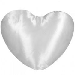 Cuscino  cuore Raso Bianco 40x40 cm. poliestere 100%