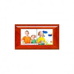 Kit Mosaico da 1 Mattonella in Ceramica 10,8x10,8cm. con Cornice in Legno 11x11 cm.
