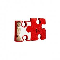Orologio Glitter Puzzle Personalizzato 25x15 cm
